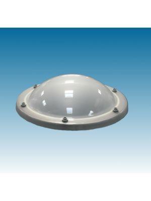 lichtkoepel rond 60 dubbelwandig acrylaat (PMMA/PMMA) bolvormig opaal