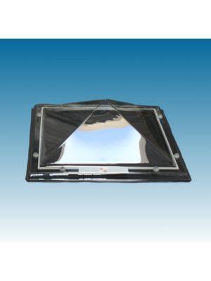 lichtkoepel 80 X 80 dubbelwandig acrylaat (PMMA/PMMA) piramide