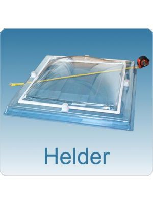 Lichtkoepel vierwandig polycarbonaat (PC/PMMA/PMMA/PMMA)  200X200  bolvormig helder