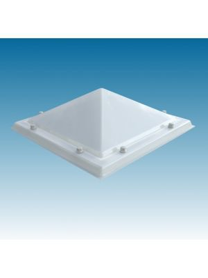 lichtkoepel 80 X 80 dubbelwandig acrylaat (PMMA/PMMA) piramide opaal